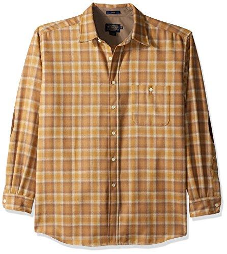 (Pendleton Men's Long Sleeve Button Front Classic-Fit Trail Shirt, Watson Gold Ombre-31941 SM)
