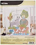 Bucilla Stamped Cross Stitch Crib Cover Kit, 34 by 43-Inch, 46362 BFF