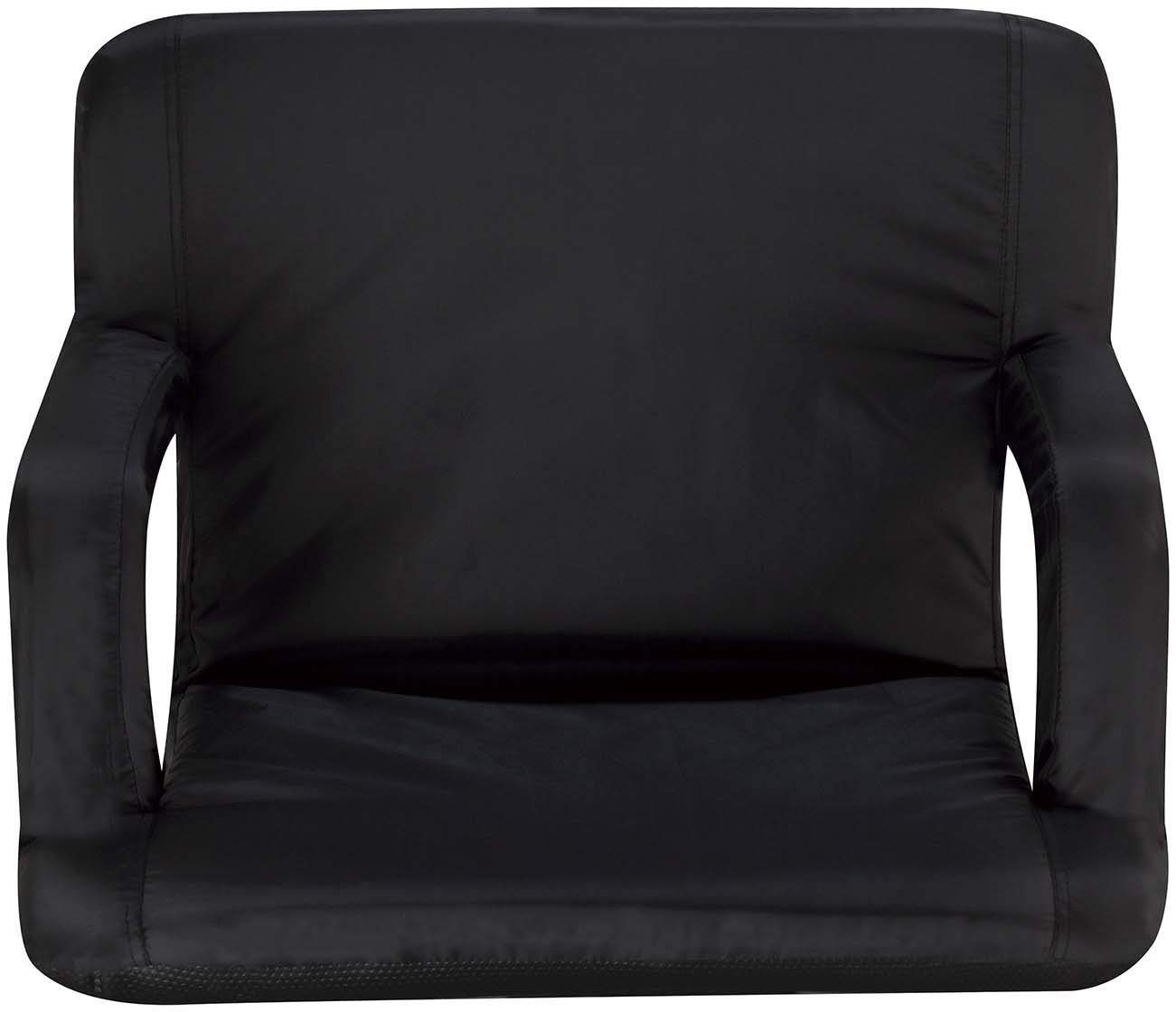 Naomi Home Venice Stadium Seat for Bleachers Portable Reclining with Armrest Grande/Black