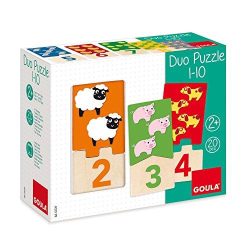 Goula 53329 - Jouet De Premier Age - Puzzle Duo 1 - 10