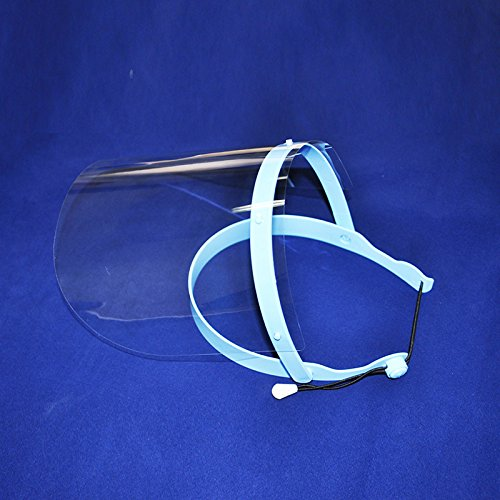 Vinmax Anti-fog, Adjustable Protective Full Face Shield with10 Plastic Protective Film(Blue)