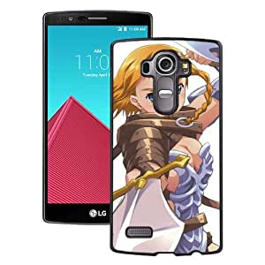 Popular And Unique Designed Cover Case For LG G4 With Girl Blonde Braids Weapons Sword Aggression black Phone Case BY icecream design