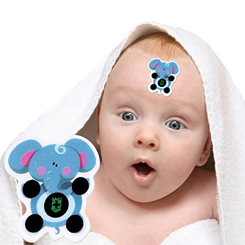 Samber 10pcs Cartoon Sticker LCD Forehead Thermometers Body Fever Thermometers Head bands Children's Safety For Kids Care Thermometer
