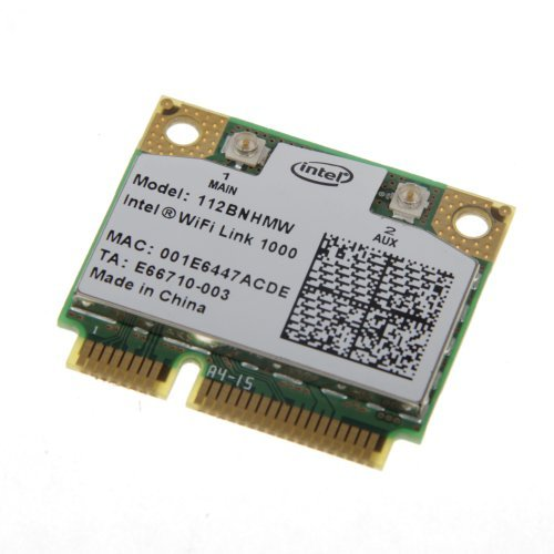Intel Wifi Link 1000 Mini PCI Express Wireless-N Card 802.11b/g/n 2.4 GHz 112BNHMW 300Mbps by Intel