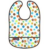 Kushies Waterproof Bib, White Circle, Infant