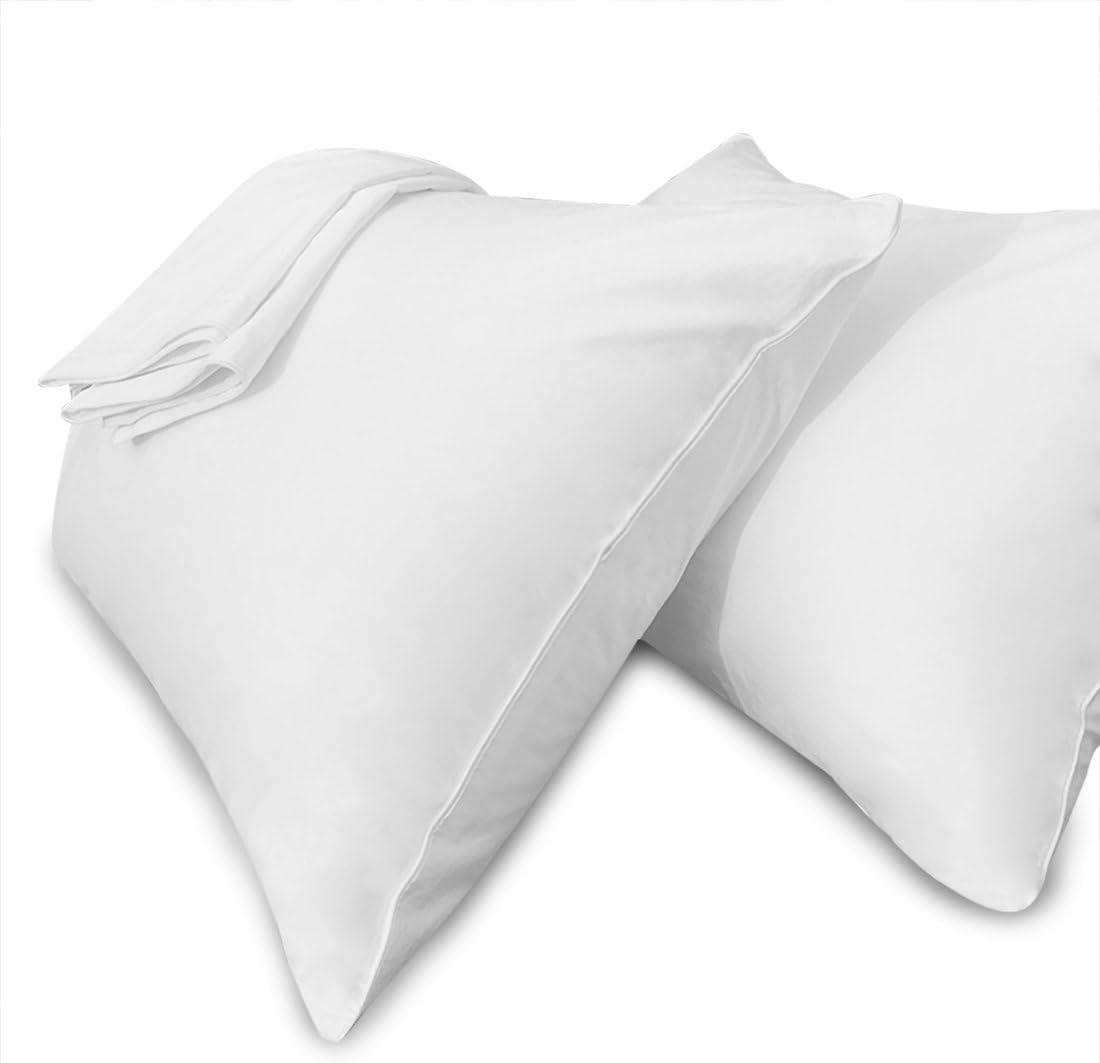 Amazon Com Precoco White Pillow Cases Standard Size 100 Cotton