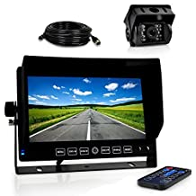 Pyle Dash Cam Car Recorder DVR - 7 Inch Monitor Blackbox Rear Camera View Full Color HD 1080p Video Security Loop Camcorder - PiP Night Vision Audio Record Micro SD & Built-In Microphone (PLCMTRDVR41)