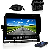 Pyle Dash Cam Recorder DVR for Trucks - 7 Inch Monitor Blackbox Rear Camera View Full Color HD 1080p Video Security Loop Camcorder - PiP Night Vision Audio Record Micro SD & Microphone - PLCMTRDVR41