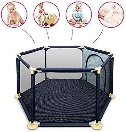El nuevo parque para bebés IT es el parque perfecto para tu bebé; laterales de malla para una visibi
