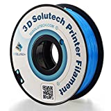 3D Solutech See Through Aqua Blue 3D Printer PLA Filament 1.75MM Filament, Dimensional Accuracy +/- 0.03 mm, 2.2 LBS (1.0KG)