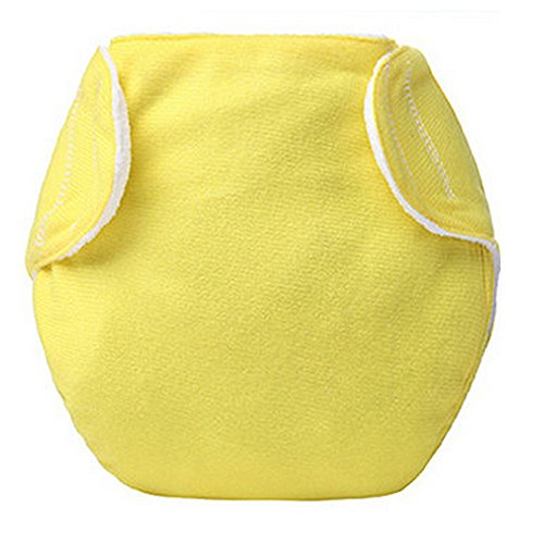 MEXUD Baby Newborn Diaper Cover Adjustable Reusable Nappies Cloth Wrap Diapers (Yellow) (Grovia Package Deals compare prices)