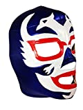 DOS CARAS Adult Lucha Libre Wrestling Mask (pro-fit) Costume Wear - Blue/White