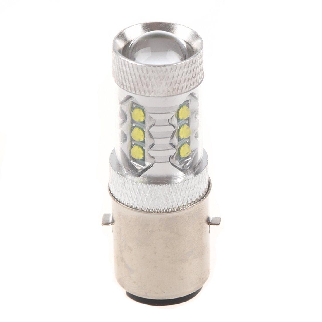 Cikuso 16 CREE 80W LED Moto//cyclomoteur//Scooter//ATV Ampoule de Phare BA20D H6