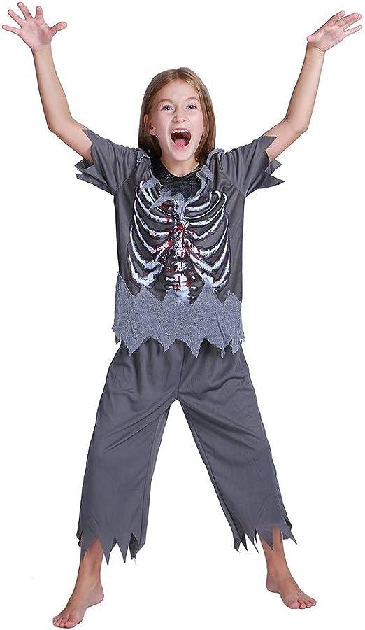 WANLN Trajes de Disfraces de Halloween de Hueso de Terror Niños ...