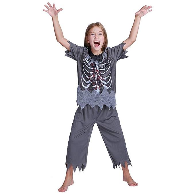 WANLN Trajes de Disfraces de Halloween de Hueso de Terror ...