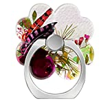 360°Rotation Grip Mobile Phone Finger Ring Holder for All Smartphone and Tablets with Car Mount Stand Flowers Bouquet