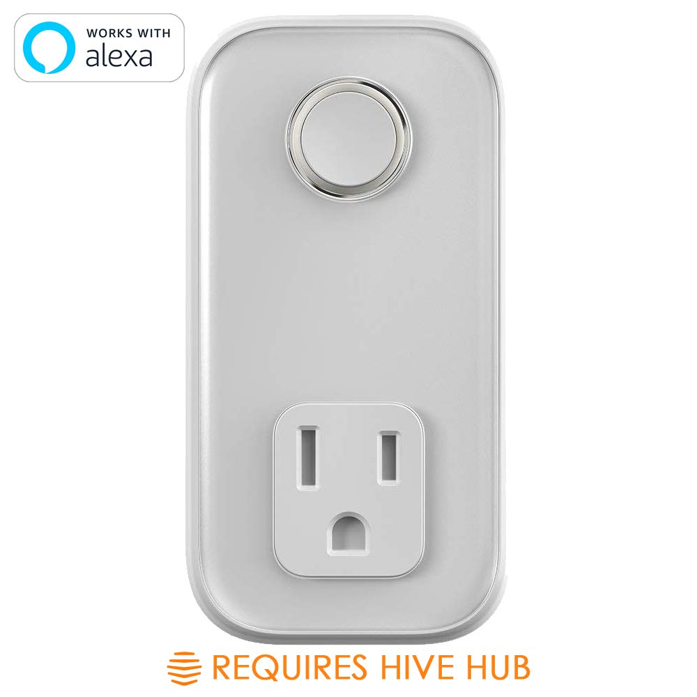 Hive Active Plug for Smart Home, Indoor Smart Outlet, Works with Alexa & Google Home, Requires Hive Hub