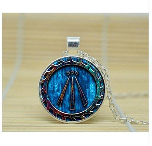 Awen Symbol Druid Pendant Necklace glass Cabochon Necklace (2)]()