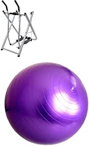 Fitness World Air Walker Glider Fitness Exercise Machine, Silver with Fitness World Exercise Ball and Yoga 75 cm, Purple