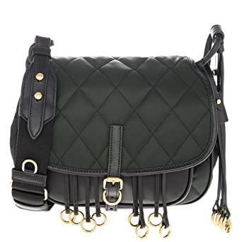 453ee2125209 Image Unavailable. Image not available for. Color: Prada Women's Corsaire  Quilted Handbag Green