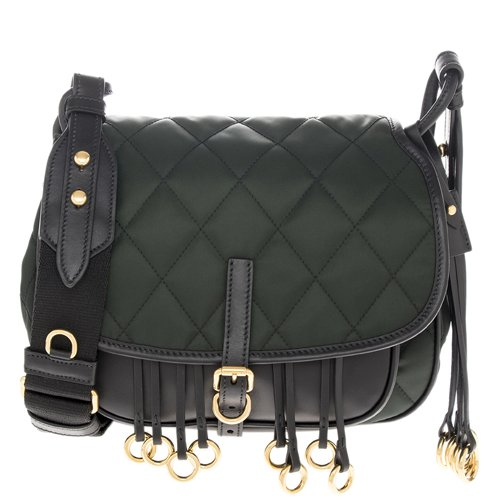 Prada Women's Corsaire Quilted Handbag Green ()