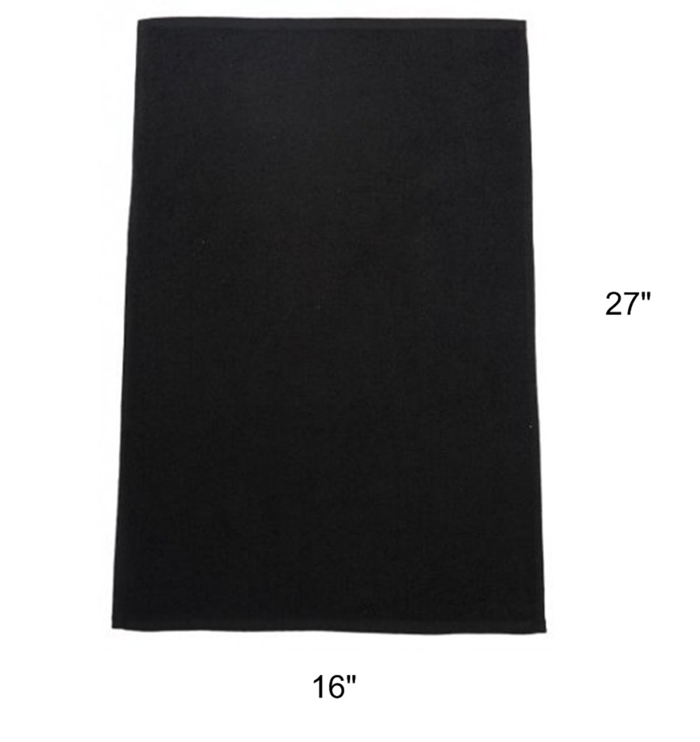 Groko Textiles Black Bleach Proof Towels Set, 24 Pack 100% Cotton 16'' X 27'' Color safe, Stain Resistant, Quick Drying Towels for Beauty, Hair and Nail Salon, Gym, Spa and Home Hair Care by GroKo Textiles (Image #2)