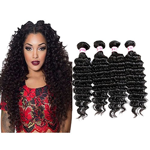 Rabake26 28 30 30inch Hair Malaysian Deep Wave 4bundles 100% Real Human Hair Weft Weaves Extensions Products 100g/ps Natural Color Total 400g