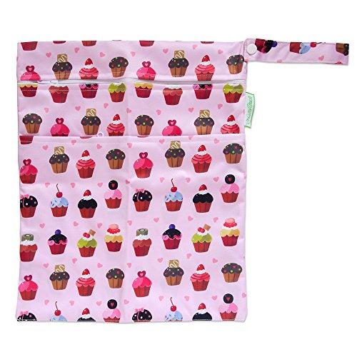 Reusable Wet and Dry Baby Diaper Bag (Cupcake Bag)