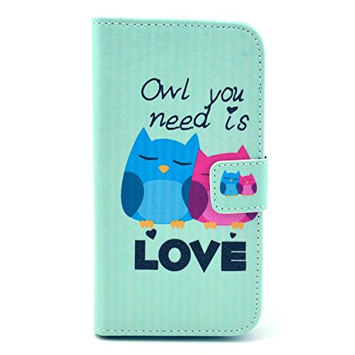Photo - Galaxy S3 Mini Case, Firefish Book-style Flip PU Leather Wallet [Kickstand] [Magnetic Closure] [Card Slots] [Scratch Resistant] Protector for Samsung Galaxy S3 Mini+ One Stylus-LOVE owl