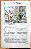 Antique Copperplate Miniature Engraving: BL4 from