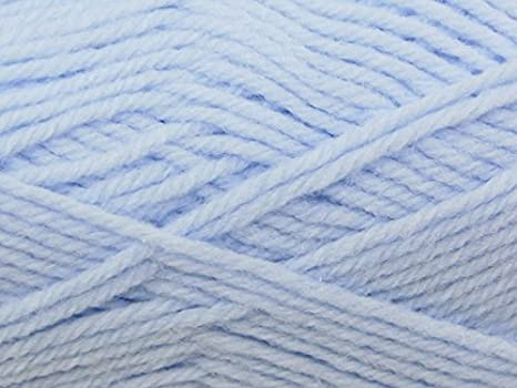 SUPERSOFT BABY DOUBLE KNITTING YARN. 306 BABY BLUE PETER PAN DK 50g ball