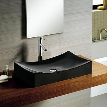 Rea Waschbecken Ablage Keramik Schwarz Lux Imperium 2 Black Badmobel