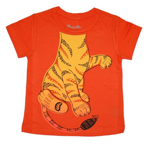 (Peek-A-Zoo Toddler Become an Animal Short Sleeve T shirt - Tiger Orange (5T))
