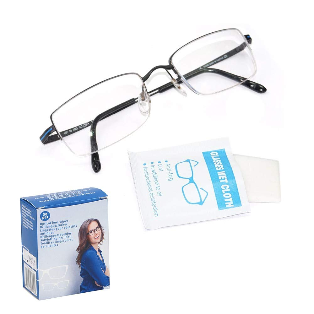 Toallitas limpia gafas sin alcohol 30 uds