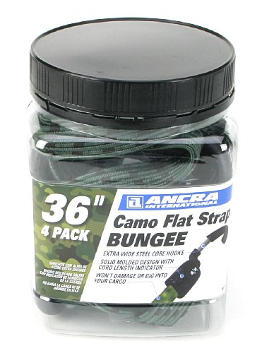 - Ancra 95734 Camo Flat Strap Bungee Cords, Camouflage, 4-Pack, 36-Inch