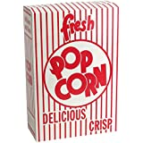 MT Products 2.8 oz. Close-top Cardboard Disposable Theater/Stadium Popcorn Box - 50 Pieces