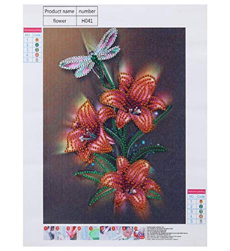- Barlingrock Partial Drill Fluorescent Diamond Paintings for Adults, Gold Shiny Dragonfly&Lily 5D DIY Crystal Bright Painting Home Wall Decor for Livingroom Bedroom Decoration 25x30cm/10x12