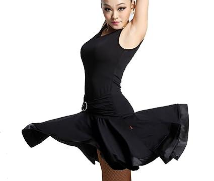 Latin Dance Dress Latin Dance Practice Skirt Dress Show Tango Dress Cha Cha  Dress Ballroom Skirt e5c81232d
