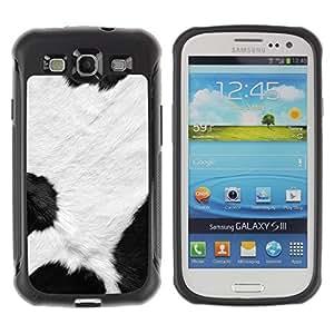 """Pulsar iFace Series Tpu silicona Carcasa Funda Case para Samsung Galaxy S3 III I9300 , Manchas blancas Negro dálmata animal de piel"""""""