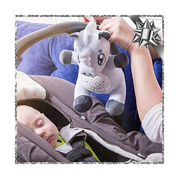 Baby White Noise Machine Music soothers for Sleep: Lumipets Night Light Projector and Sound Machine Baby Soother Unicorn Stuffed Animal Baby Gifts