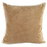 """Famibay Plush Sofa Cushion Covers 26x26 ,Decorative Soft Throw Pillow Case Covers with Zipper for Bed (26"""" x 26"""", Camel)"""
