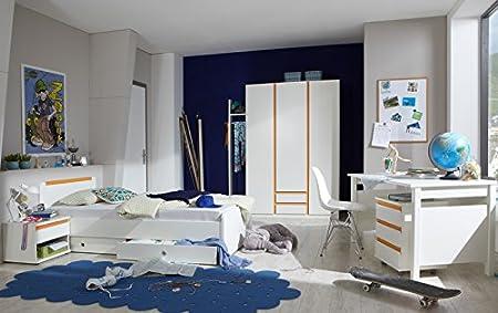 Wimex Completo Dormitorio Juvenil Color Blanco – Armario Naranja ...