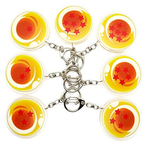 EBTY-Dreams Inc. - Set of 7 Dragon Ball Z (DBZ) Anime Acrylic Keychain Dragon Balls