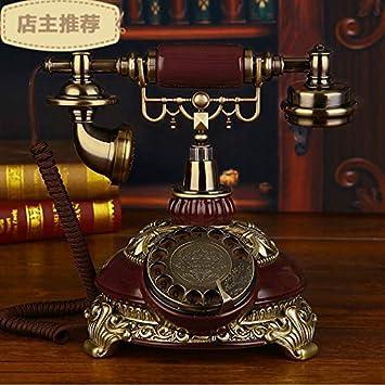 Telefono Fijo Vintageteléfono Europeo Máquina De Base De Teléfono ...