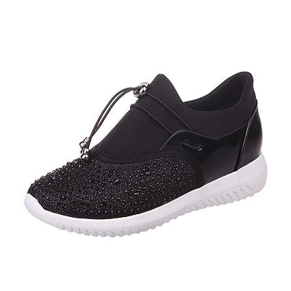 WWricotta LuckyGirls Zapatillas de Correr Hombre Mujer Unisex Malla Patchwork Casual Cómodas Calzado Deportivo Zapatos Planos