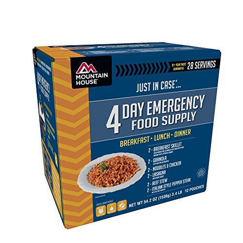 - Mountain House 4-Day Emergency Food Supply Kit