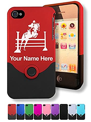 Case for iPhone 4/4s - Horse Hurdles - Personalized Engraving Included (Personalized Iphone 4s Phone Case)