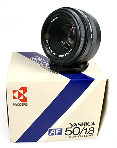 (YAHSICA 50MM F1.8 LENS IN ORIG.)