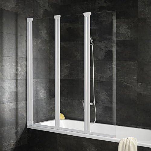 Pare bañera con tapa automontable, – Mampara plegable, 125 x 130 ...