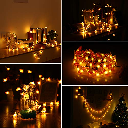INLIFE LED String Lights with Remote Control, LED Waterproof Decorative Lights Dimmable, Copper Wire Lights for DIY Bedroom, Patio, Garden, Wedding, Parties